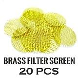 Case Square® 20 PCS of BRASS Tobacco Smoking Pipe Filter Screen