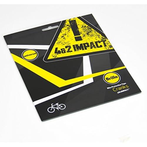 4&2 Impact ruban adhésif de protection pour vélo - Protège votre vélo des abrasions, des frottements et des impacts (Pédaliers taille unique, Brillant)