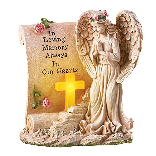 Collections Etc Solar Memorial Angel Garden Statue (Statue Light Solar Garden)