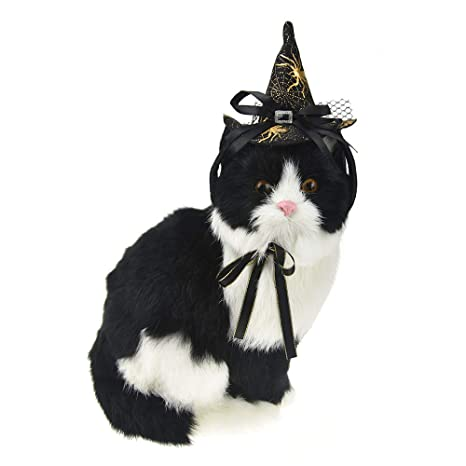 FLAdorepet Wizard - Gorro de Perro para Gato o Mascota, Disfraz de Halloween para Perros