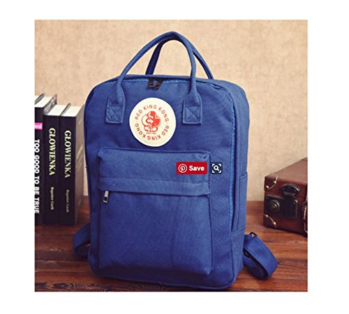 Canvas Backpack (Blue)