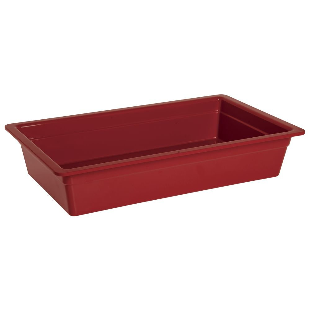 Cold Food Bar Pan Full Size Red Melamine - 20 3/4