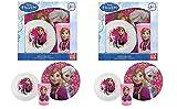 Disney Frozen 3pc Window BOx Set Plate, Bowl and Tumbler x 2 Set