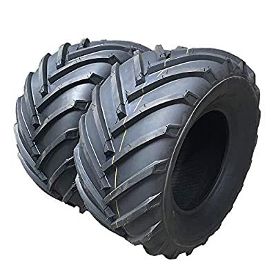 24x12.00-12 4PR P328 Garden Lawn Mower Tractor Golf Cart tires 4 Ply 24/12-12 Turf Bias Tubeless 24-12-12 Load Range B Tires Set of 2
