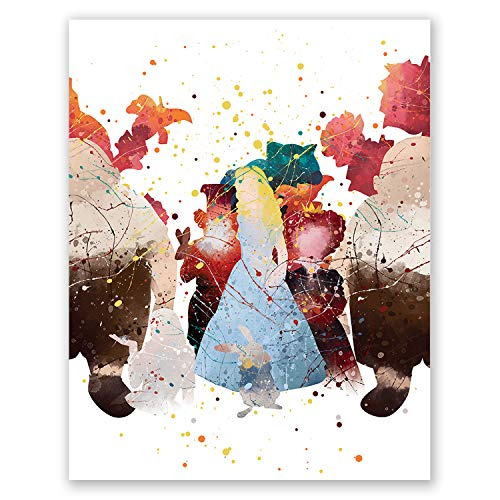 Alice in Wonderland Poster - Kids Bedroom Wall Art Print Decor - Nursery Baby Artwork - Princess Alice - Girls Bedroom - Playroom Decoration - Party (8x10)