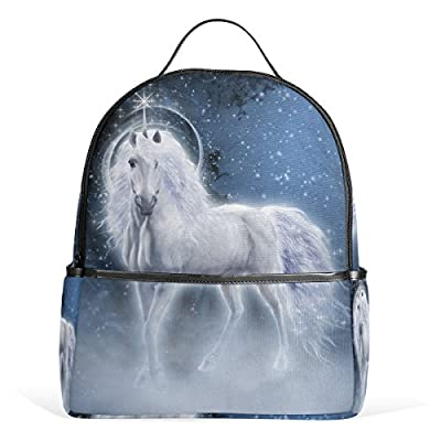 3c8ae82811 JSTEL White Unicorn School Backpack 4th 5th 6th Grade for Boys Teen Girls  Kids 85%