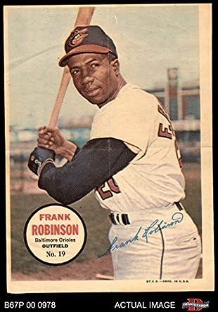 Amazoncom 1967 Topps Pin Ups 19 Frank Robinson Baltimore