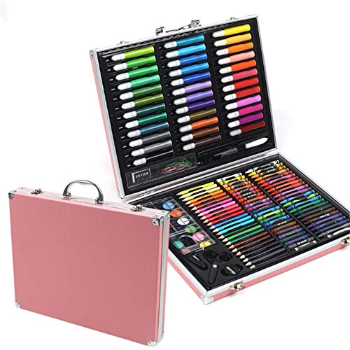 JIANGXIUQIN Artist Art Drawing Set, 150 Art Sets with Watercolor Paintings, Including A Free Reusable Plastic Suitcase. Gifts for Children and Children. (Color : Pink) by JIANGXIUQIN (Image #5)