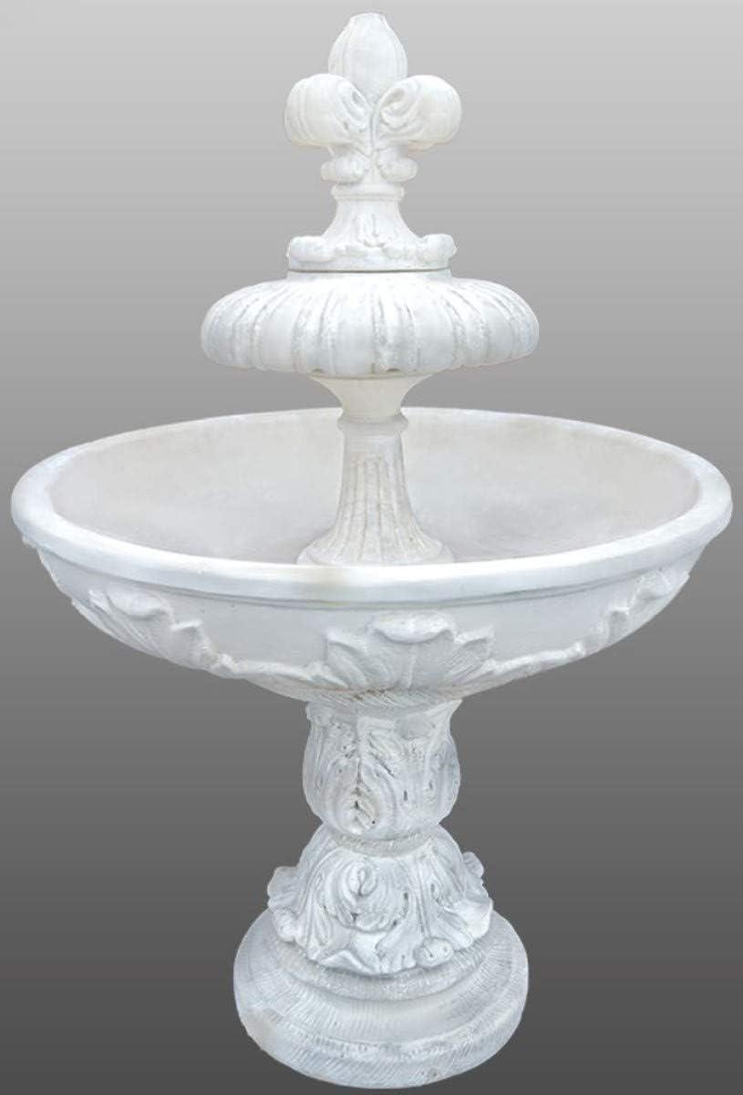 Casa Padrino Fuente/Fuente de Jardín Art Nouveau Ø 108 x H. 156 cm - Fuente Decorativa de Piedra Artificial, Colores:Blanco: Amazon.es: Hogar