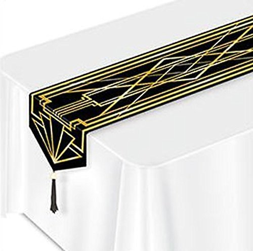 Great Roaring 1920's Laminated Paper Table Runner Party Decoration]()