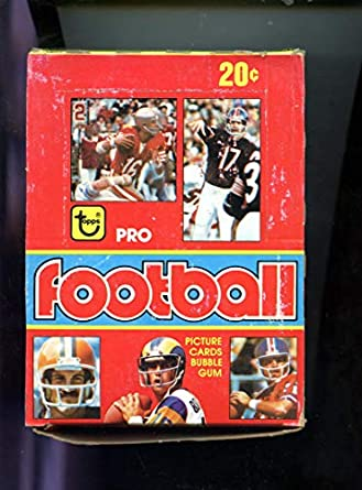 1979 Topps Football Card Set Wax Pack Box Earl Campbell