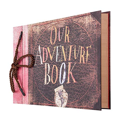 Gotideal Photo Album Scrapbook, DIY Handmade Album Photo Book Our Adventure Book Scrapbook Movie Up Travel Scrapbook for Christmas, Anniversary, Wedding, Travelling, Friend, Memory with Stickers