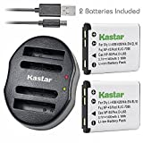 Kastar Battery (X2) & Dual USB Charger for Nikon EN-EL10 MH-63 and Nikon Coolpix S60, S80, S200, S210, S220, S230, S500, S510, S520, S570, S600, S700, S3000, S4000, S5100 + More Camera