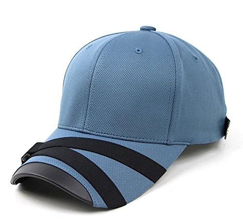 0afbd3f4f50 Galleon - Teamlife Fashion Cool Max Webbing Strap Visor Brim Mens Womens  Baseball Golf Cap Ballcap Trucker Hat (Blue)