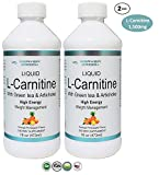 Beaver Brook L-Carnitine 1,500mg with Green Tea & Artichoke Dietary Supplement for High Energy and Weight Management - Orange Pineapple - 2 Pack