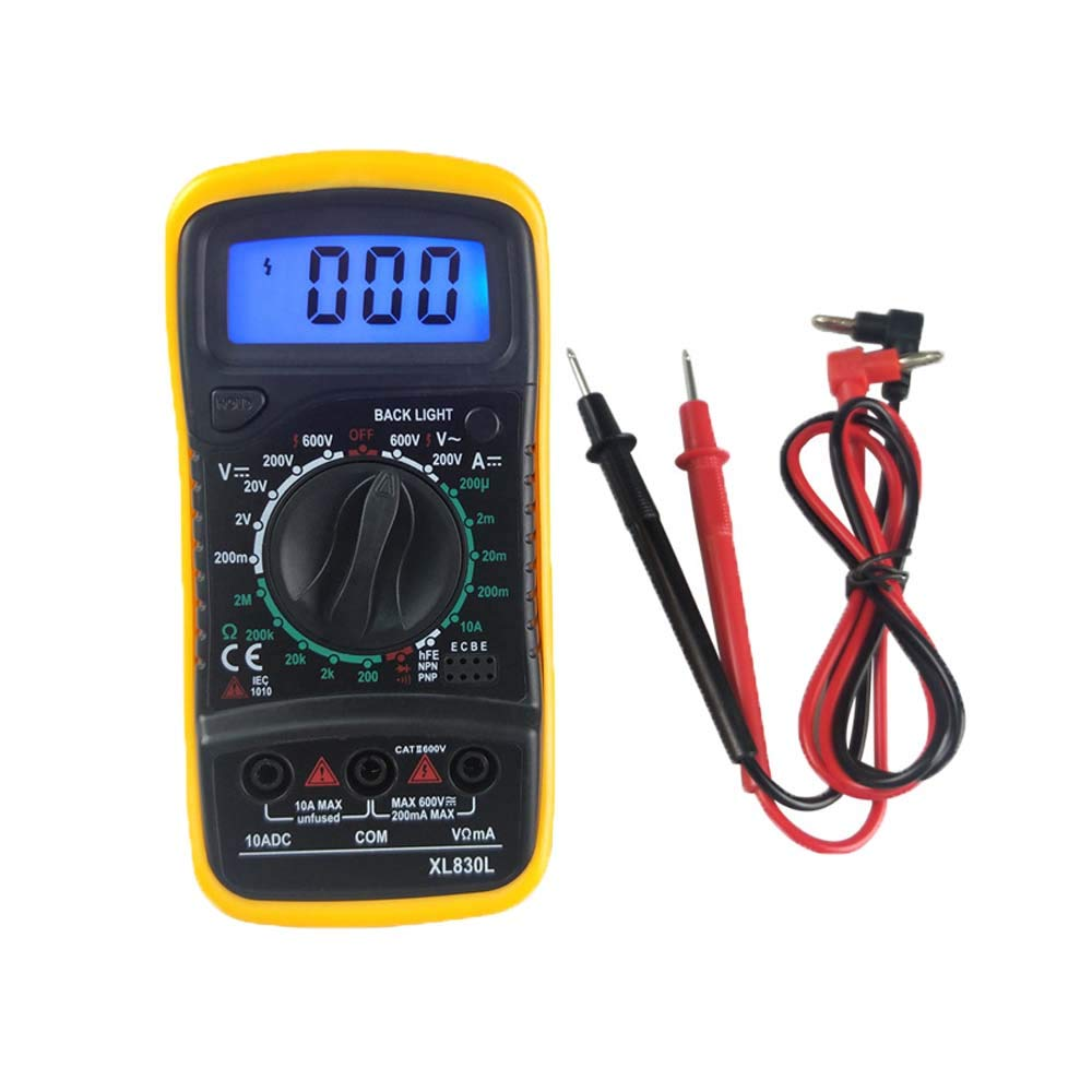 Haitech Digitale LCD multimetro voltmetro multi-tester Ohm AC DC Circuit Checker prova con cavo per laboratorio scuola fabbrica ECT