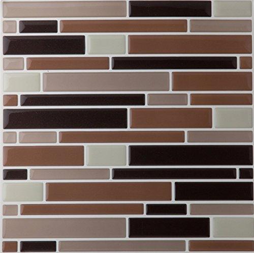 6 Pack Mosaic Magic Gel 5th Avenue Manhattan Collection Self Adhesive Backsplash Wall Tiles - 9.125