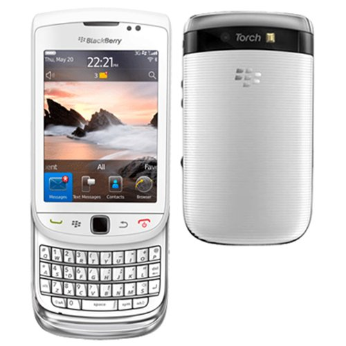 Blackberry Torch 9810 Unlocked GSM HSPA+ OS 7.0 Slider Cell Phone - White - Unlocked Blackberry