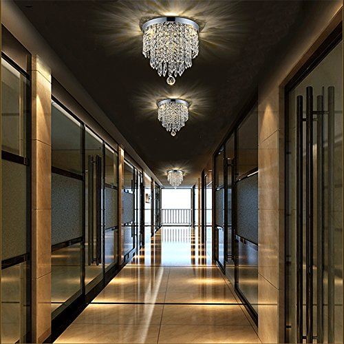 Hile Lighting KU300074 Modern Chandelier Crystal Ball Fixture Pendant Ceiling Lamp H9.84'' X W8.66'', 1 Light by Hile Lighting (Image #2)