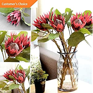 Hebel 1Pc King Protea Artificial Flower Fake Plant DIY Wedding Bouquet Party Decor Cal | Model ARTFCL - 204 | 20