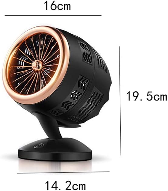 Fuudear Creative Air Conditioning Cooling Fan Circulation Fan with Touch Button Switch Simple 360/° Wild Home Decoration Double Leaf Turbine Fan Portable Mini Desktop USB Fan