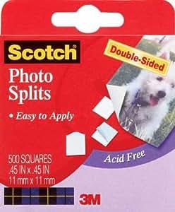 """Scotch Photo Splits Double-Sided 500/Pkg-.45""""X.45"""""""