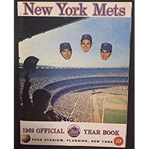 1969 Ny Mets Replica Official Year Book Hand Autographed Signed Yogi Berra Joe Pignatano Authentic