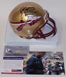 Charlie Ward Autographed Hand Signed FSU Florida State Seminoles Mini Football Helmet - with 1993 National Champs & 1993 Heisman inscriptions - PSA/DNAPSA/DNA