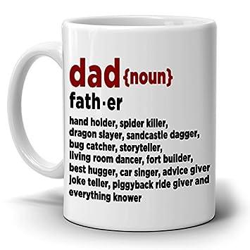 Papá definición – taza de café regalo perfecto novedad cumpleaños regalos día del padre de Navidad