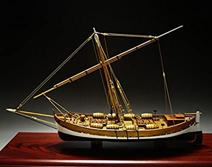 Amazon Com Leudo 1 48 Model Ship Trade Boat With Sail