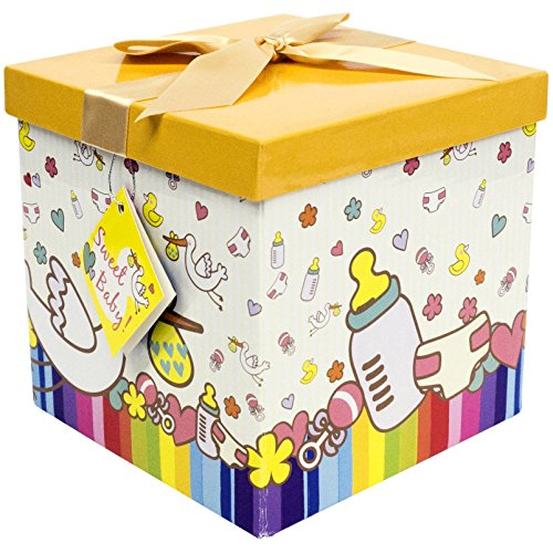 "GIFT BOX, 7""X7""X7"" Petit Bebe. Easy to Assemble and No Glue"