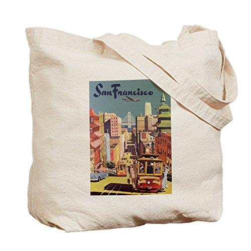 CafePress–Vintage San Francisco Póster de viaje–Gamuza de bolsa de lona bolsa, bolsa de la compra