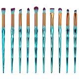 Mermaid Makeup Brush Set 10PCS, MakeupStore New Arrival Mermaid Foundation Eyeshadow Contour Eye Lip Makeup Brushes Set
