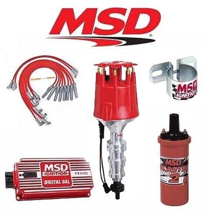 amazon com msd 9025 ignition kit digital 6al distributor wires coil rh amazon com