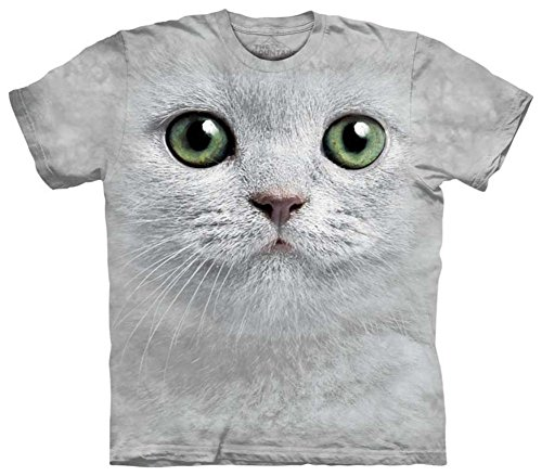 Eyes Cat Face - Green Eyes Cat Face The Mountain Tee Shirt Adult X-Large