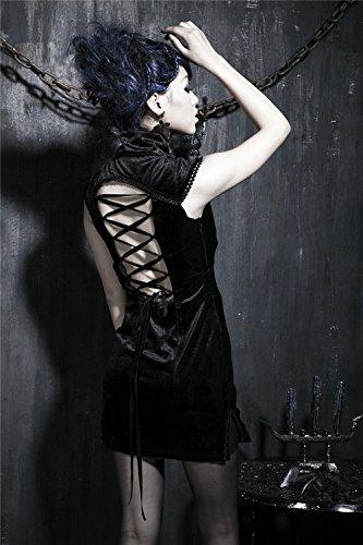 Kniel en Kurze Damen Fitting Gothic 5 Slim Kleid Schwarzes Abendkleid nge Qipao Gr Cheongsam Kleid chinesisches rmel nqHqBga