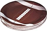 Football Themed 9' Disposable Round Paper Plates –Superbowl Party Supplies Ideal for Tailgate Parties,Family Dinner and Sports Event (50 Pack)