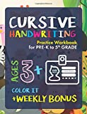 #10: Cursive Handwriting Workbook: Preschoolers to 5th Grade | Ages 3+ and weekly FREE Bonuses