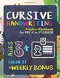 #9: Cursive Handwriting Workbook: Preschoolers to 5th Grade | Ages 3+ and weekly FREE Bonuses