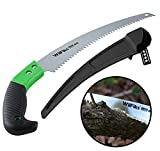WilFiks Razor Sharp 13″ Heavy Duty Curved Hand Saw, Perfect For Sawing, Trimming, Gardening, Pruning & Cutting Wood, Drywall & More, Comfortable Ergonomic Non-Slip Handle, Includes A Protective Sheath For Sale