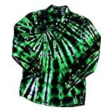 Green Upcycled Tie Dye Shirt - S