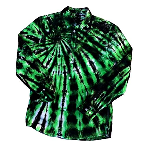 Green Upcycled Tie Dye Shirt - S by Incense and Peppermints
