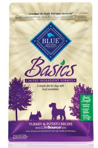 Blue Buffalo Basics Dry Dog Food, Turkey and Potato Recipe, 24-Pound Bag, My Pet Supplies