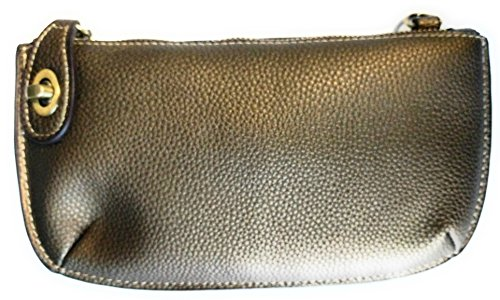 Mini Clutch Wristlet Bronze Dark Crossbody wxwg64Fq