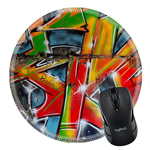 MSD Mousepad Round Mouse Pad/Mat 24868654 unusual beauty bright street art