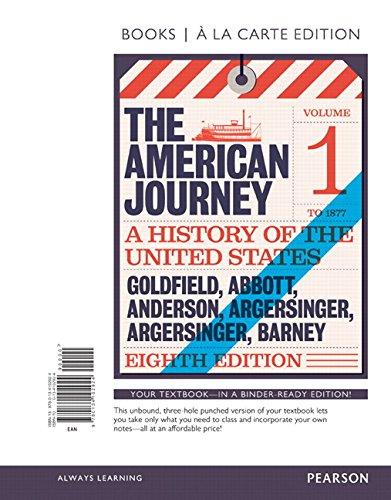 American Journey, The, Volume 1, Books a la Carte Edition (8th Edition)