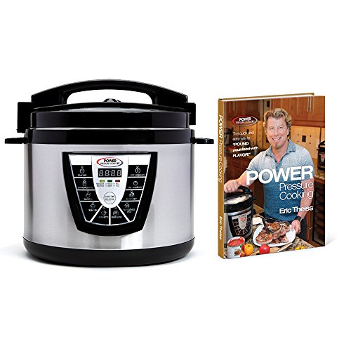 Power Pressure Cooker XL 10 Qt with Eric Theiss' Power Pressure Cooking Cookbook