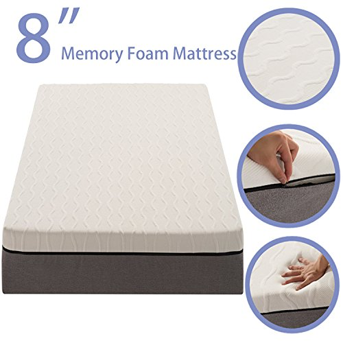 NOFFA 8-inch Memory Foam Mattress Relieve Body Pressure Comfortable Bed Mattress (Queen Size) by NOFFA (Image #1)