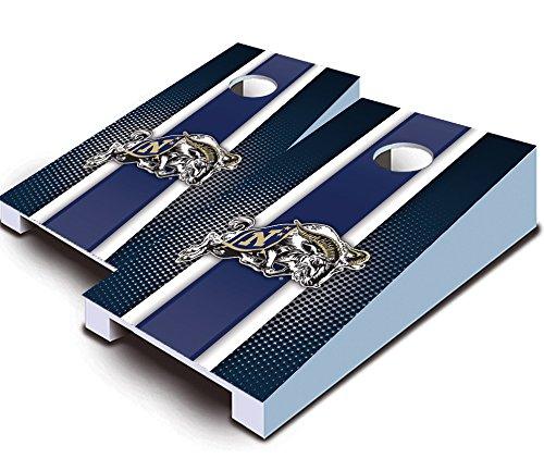 Miniature Tail Wrap - NAVAL ACADEMY NAVY MIDSHIPMEN Striped TABLETOP Desktop Cornhole Boards Game Set Bean Bag Tailgate Toss Mini Miniature by Buckeye Nation Sales