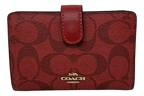 Coach Medium Corner Zip Wallet 1941 Red Style No 23553
